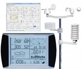 Solar Wireless Professional Touch Screen Weather Station with PC Interface  AW002