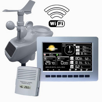 Wireless Solar Professional Weather Station with WIFI and TFT Color Display  AW003