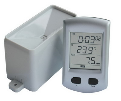 Wireless Rain Gauge with Temperature & Radio Controlled Clock (RCC)  AW011