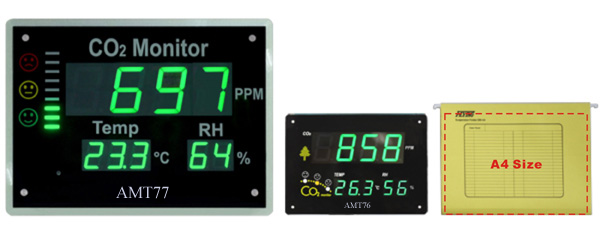CO2 Temperature RH Monitor; IAQ (Indoor Air Quality) Monitor AMT76, AMT77