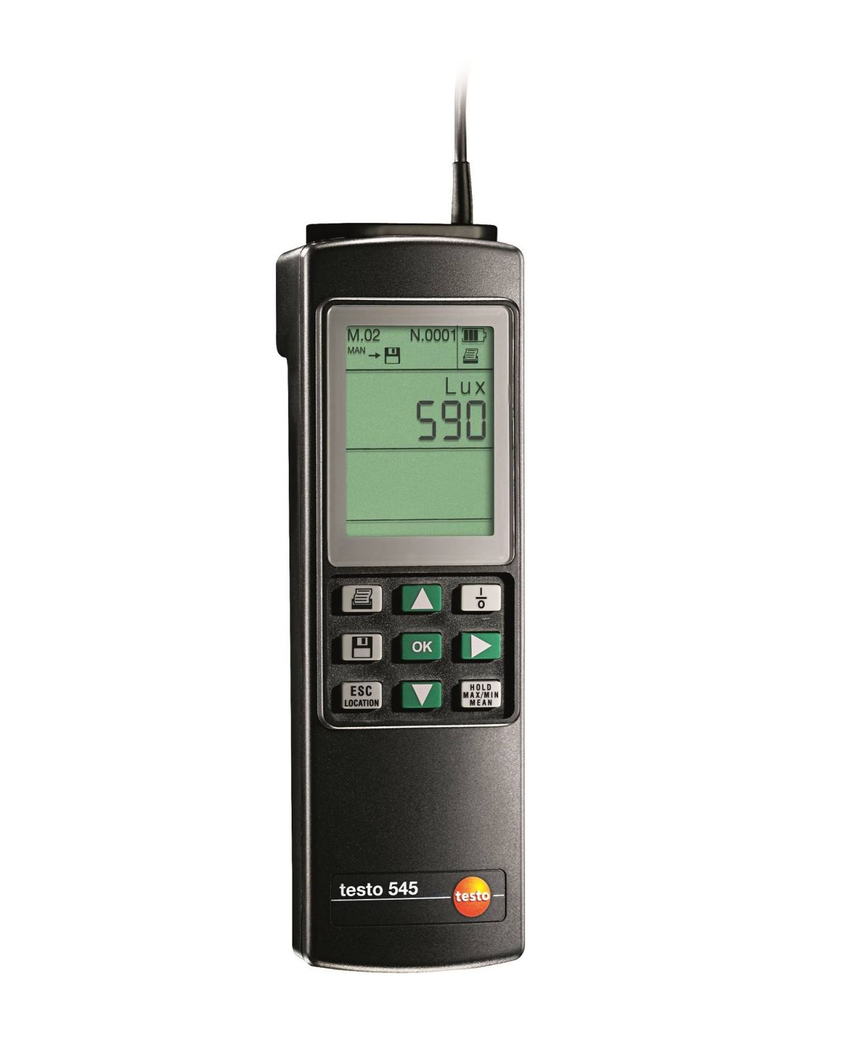 testo 545 - Light intensity measuring instrument with data storage