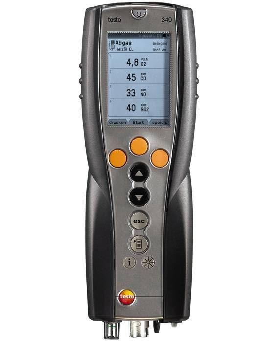 Testo 340 - Flue gas analyzer for industry emission measurement