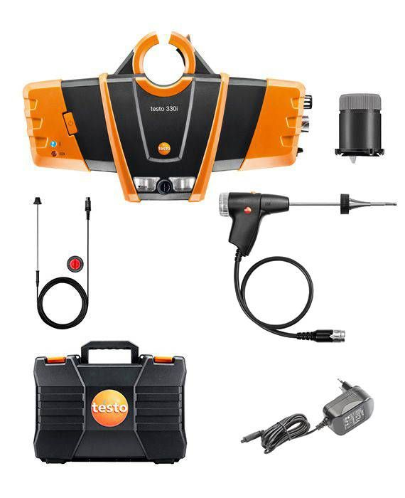 Testo 330i advanced set - flue gas analyzer set