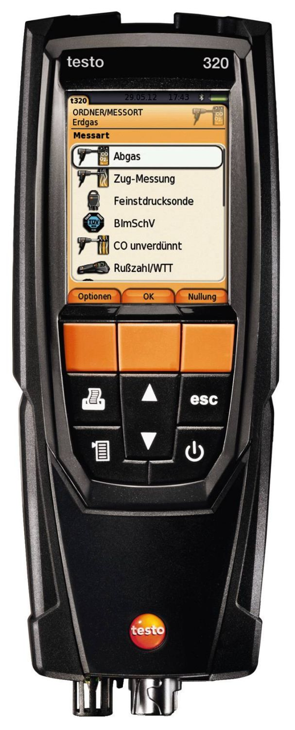 Testo 320 - Super efficient flue gas analyzer