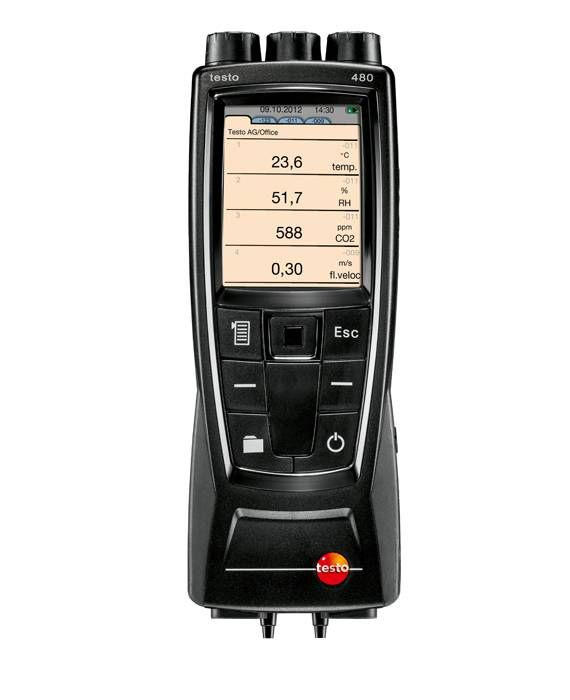 Testo 480 - Digital temperature, humidity and air flow meter