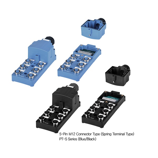 M12 Sensor Distribution Boxes-PT4-3DN