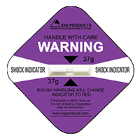 Shock Indicator Labels 37g Purple