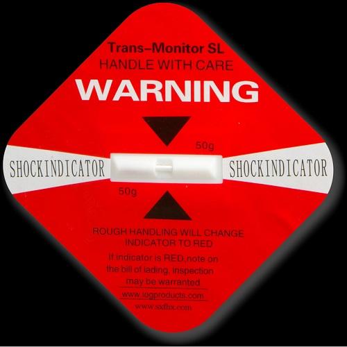 Shock Indicator Labels 50g Red
