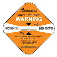 Shock Indicator Labels 75g Orange