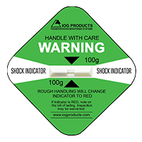 Shock Indicator Labels 100g Green