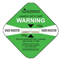 Shock Indicator Labels 100g Green