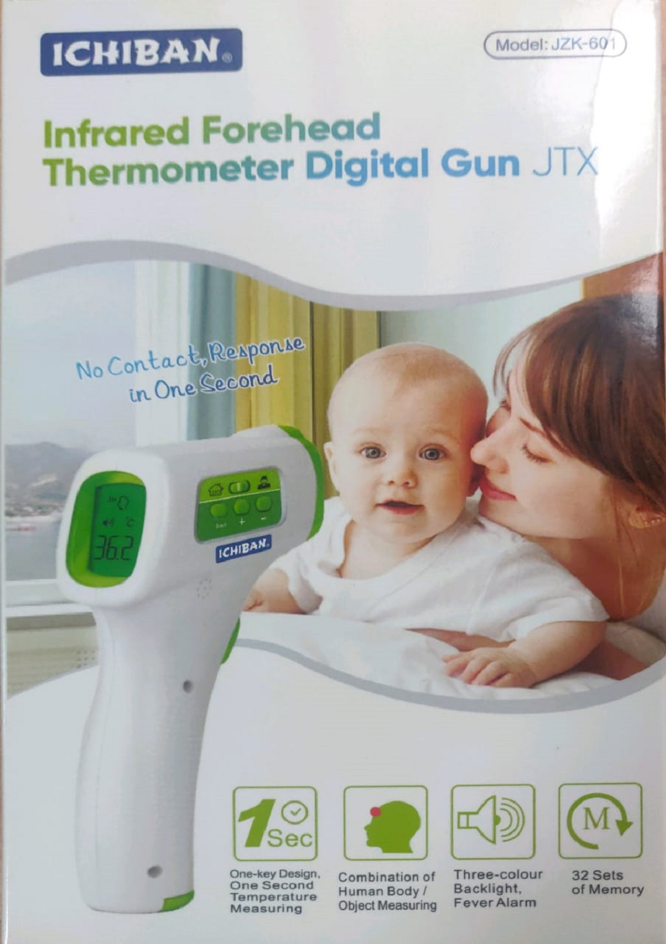 Ichiban Infra Red Forehead  Thermometer Digital GUN JTX